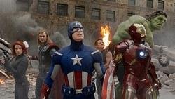 From Left: Scarlett Johansson, Chris Hemsworth, Chris Evans, Jeremy Renner and Robert Downey Jr. All Assemble for the Top Movie of 2012 The Avengers