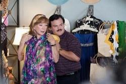 Jack Black and Shirley MacLaine in the Dark Indie Top Comedy Bernie