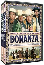 Bonanza: The Official Third Season Vol. One and Vol. Two DVD Cover