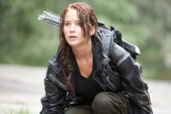 Jennifer Lawrence as Katniss Everdeen in One of the Top Films of 2012, The Hunger Games