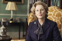 Meryle Streep as Margaret Thatcher in The Iron Lady
