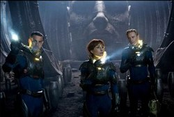 Logan Marshall-Green, Noomi Rapace and Michael Fassbender in one of the Top Sci-Fi Films of 2012, Prometheus
