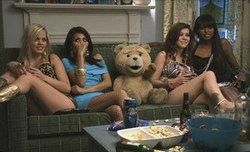 Ted - voice of Seth MacFarlane, probably about to get raunchy in one of the top comedy films of 2012.