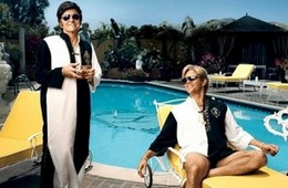 Michael Douglas and Matt Damon in the acclaimed Liberace Biography Film Behind the Candelabra.