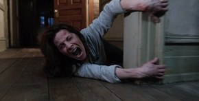 Lili Taylor facing some angry spirits 2013 top horror film The Conjuring