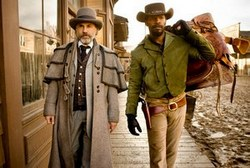 Christoph Waltz and Jamie Foxx in the 2012 Academy Award winning film, Django Unchained