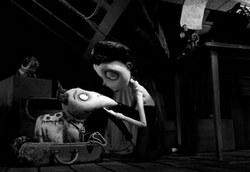 Tim Burton's black and white stop-motion animated film, Frankenweenie