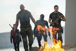 Dwayne Johnson and Channing Tatum in the 2013 top action film, G.I. Joe: Retaliation