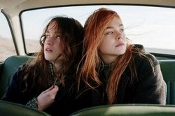 Alice Englert and Elle Fanning in the 2013 Top Drama Film Ginger & Rosa