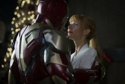 Robert Downey Jr. is suited up with Gwyneth Paltrow in the top-grossing film of 2013, Iron Man 3