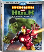 Marvel's Iron Man & Hulk: Heroes United Blu-Ray Cover