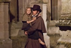 Hugh Jackman and Isabelle Allen in one of the top musicals of 2012, Les Miserables