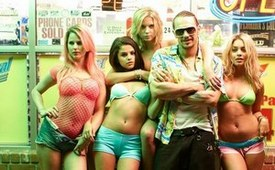 Rachel Korine, Selena Gomez, Ashley Benson, James Franco and Vanessa Hudgens in the breakout 2013 drama Spring Breakers