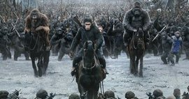 Caesar (Andy Serkis) leads the apes into the final conflict in the top action movie of 2017, War for the Planet of the Apes.